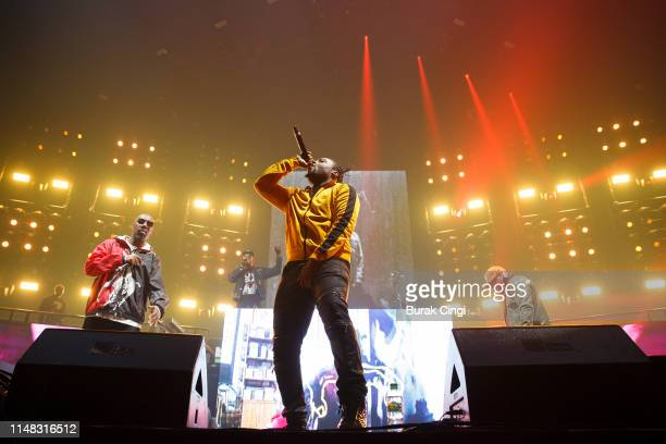 Inspectah Deck and Young Dirty Bastard of Wu Tang Clan perform on stage at Gods of Rap tour at SSE Arena Wembley on May 10 2019 in London England