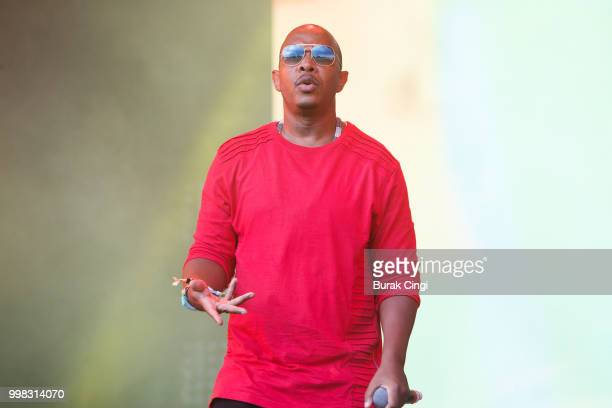 Inspectah Deck of Wu Tang Clan performs on day 1 of Lovebox festival at Gunnersbury Park on July 13 2018 in London England