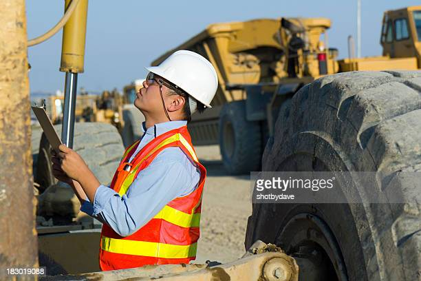 Inspecting a Construction Machine