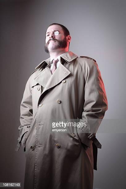 inspector franz octavius von blucher iii - trench coat stock pictures, royalty-free photos & images