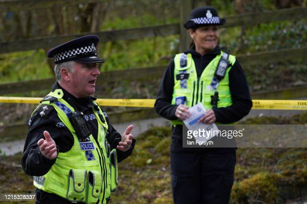 Inspector Mark Gee briefs officers from North Yorkshire Police and Park Rangers from the Dales National Park ahead of an operation to reinforce the...