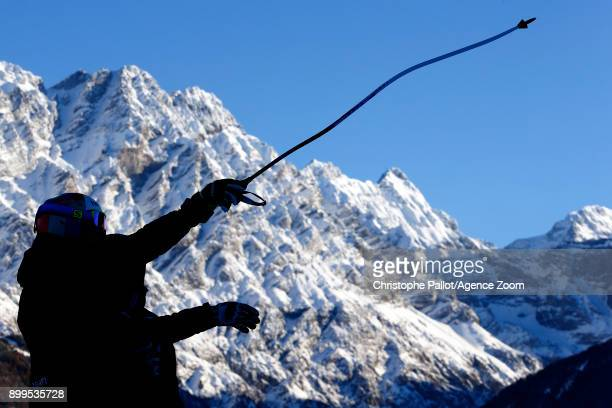 Inspects the course during the Audi FIS Alpine Ski World Cup Men's Combined on December 29, 2017 in Bormio, Italy.