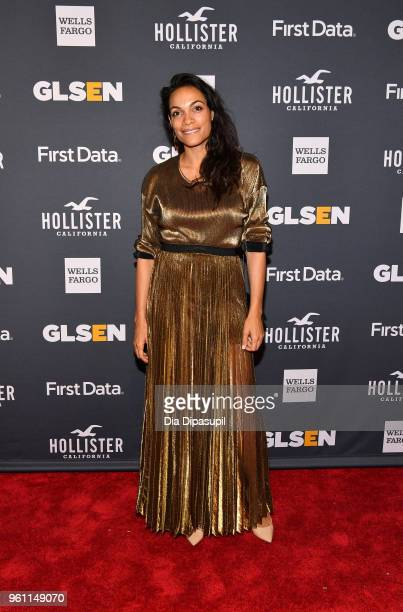 Inspiration Award Honoree Rosario Dawson attends the GLSEN 2018 Respect Awards at Cipriani 42nd Street on May 21 2018 in New York City