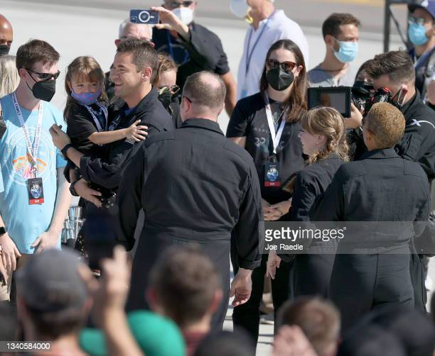Inspiration4 crew members Jared Isaacman , Chris Sembroski, Hayley Arceneaux, and Sian Proctor, see their family and friends as they prepare to leave...
