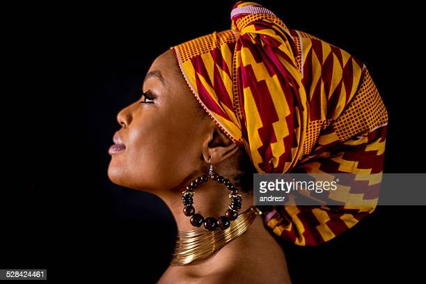 Inspirational black woman portrait