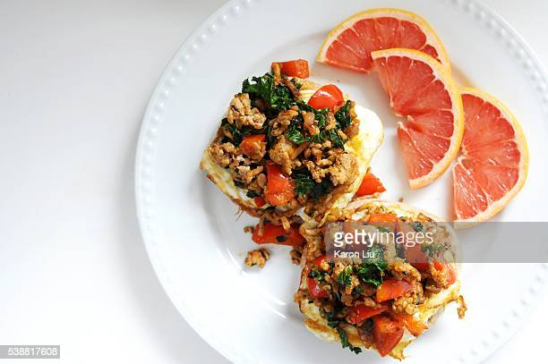Inspired by the fast food breakfast sandwich and the Sloppy Joe this ground pork sandwich seasoned with fish sauce and shrimp paste is a tasty...