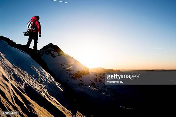 inspired mountain climber
