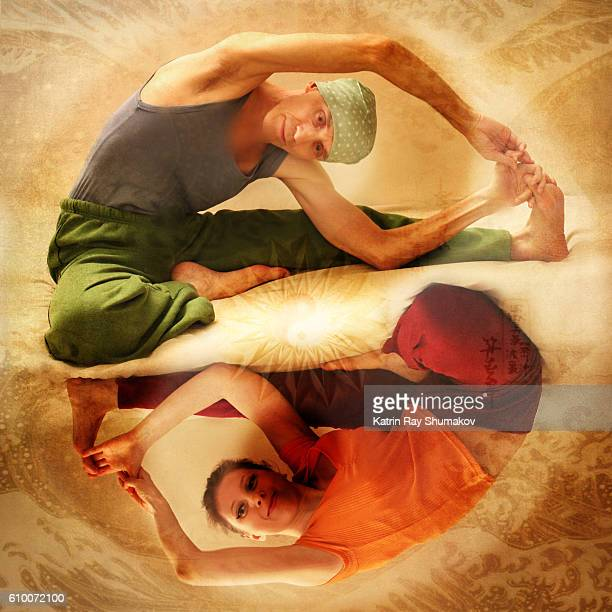 Inspiring Asanas. Yin-Yang Aspect of Body Folding