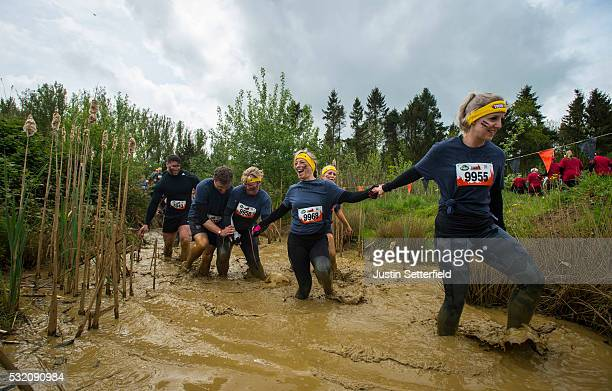 Inspiring women from across the UK team up to tackle Tough Mums a course designed by Tough Mudder for Good Morning Britain on May 18 2016 in Grantham...