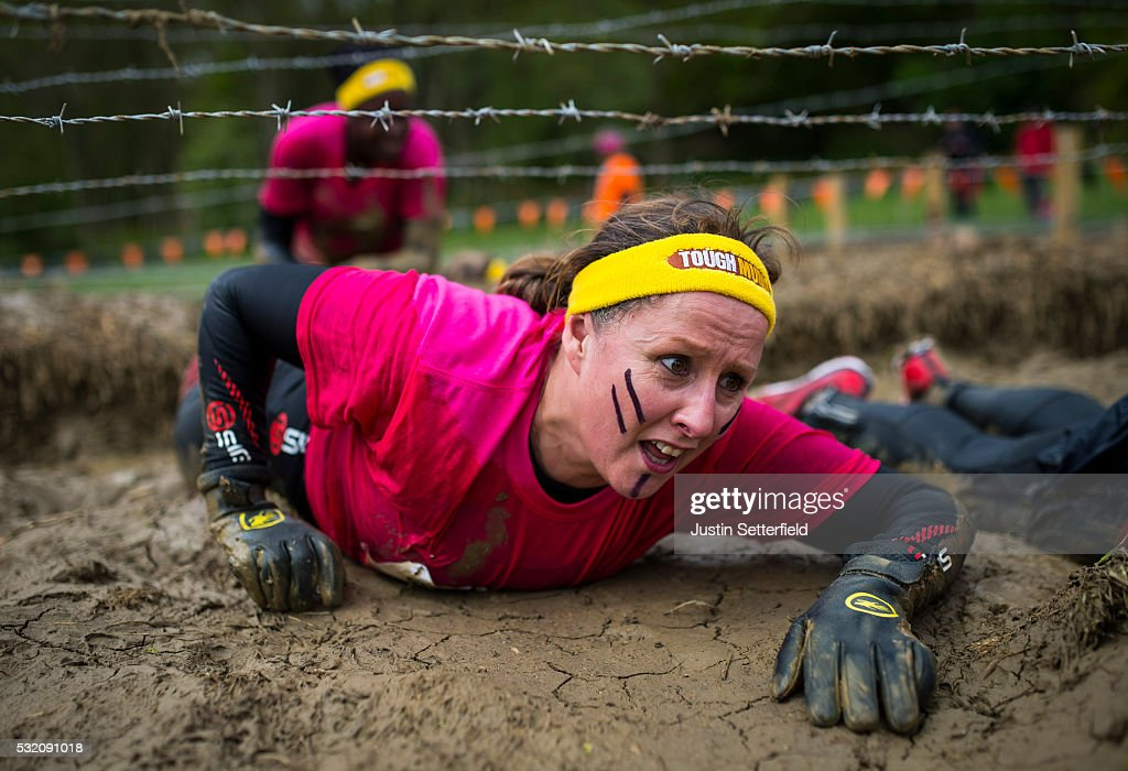 Good Morning Britain Presenters Take Part in the Tough Mudder : News Photo