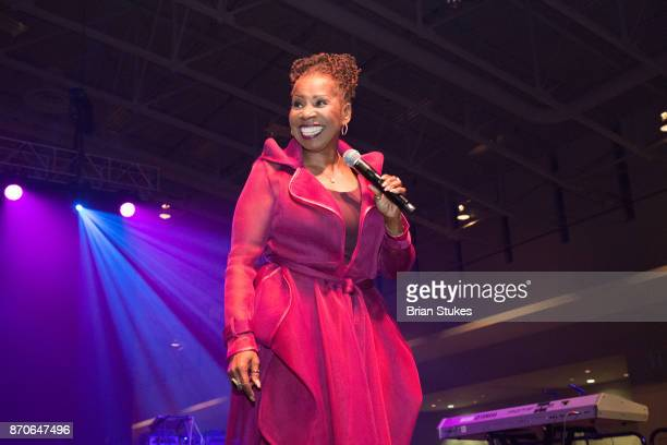 Insprinational speaker Iyanla Vanzant speaks on relationships during WPGC's 18th Annual For Sisters Only at Walter E Washington Convention Center on...