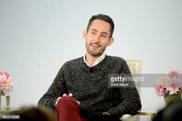 Instagram cofounder Kevin Systrom speaks onstage during Vogue's Forces of Fashion Conference at Milk Studios on October 12 2017 in New York City