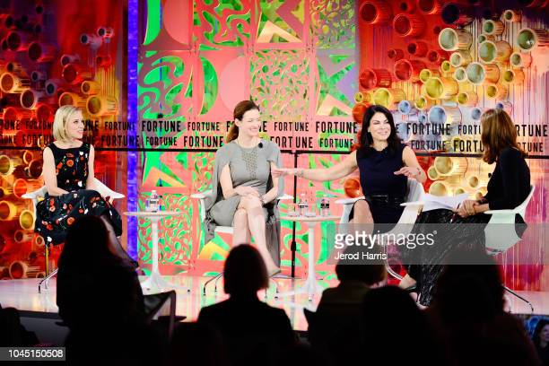 Instagram COO Marne Levine Etsy COO Linda Kozlowski AirBnb COO Belinda Johnson and Fortune Sneior Editor at Large Leigh Gallagher attend Fortune Most...
