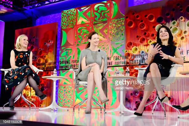 Instagram COO Marne Levine ETSY COO Linda Kozlowski and AirBnb COO Belinda Johnson attend Fortune Most Powerful Women Summit 2018 at Ritz Carlton...