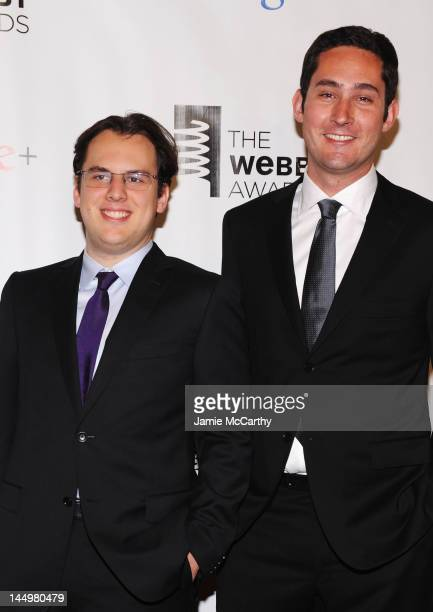 Instagram founders Mike Krieger and Kevin Systrom attend the 16th Annual Webby Awards on May 21 2012 in New York City