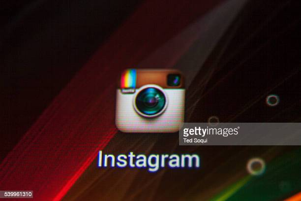 Instagram logo on a smart phone Instagram launch four years ago and is larger than the Kodak company