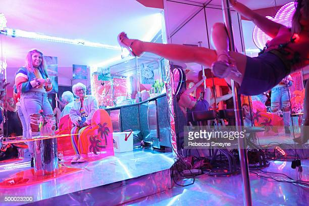 Instagram personality Baddie Winkle attends 'Motelscape' an interactive fantasy performance and installation presented by Marina Fini Signe Pierce...