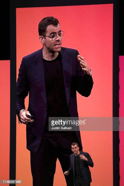 Instagram product head Adam Mosseri speaks during the F8 Facebook Developers conference on April 30 2019 in San Jose California Facebook CEO Mark...