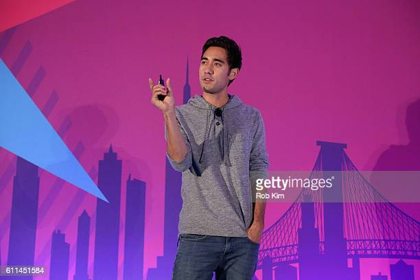 Instagram Snapchat and YouTube Personality Zach King speaks onstage at the Telling Stories Across Screens Programmatic TV panel on the ADARA Stage at...