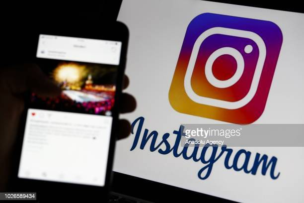 Instagram social networking service logo is seen on a laptop screen in Ankara Turkey on September 04 2018