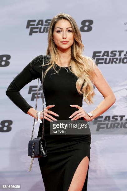 Instagram star Caroline Einhoff alias caro_e_ attends the premiere for the film 'Fast Furious 8' at Sony Centre on April 4 2017 in Berlin Germany