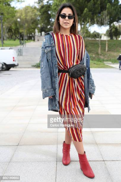 914cc16f74a Instagramer Maria Domingues wearing a jacket and dress from Zara boots from  Pull and Bear and