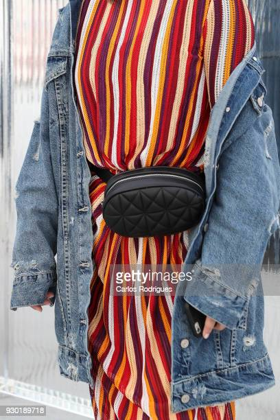 Instagramer Maria Domingues wearing a jacket and dress from Zara boots from Pull and Bear and a purse from Stradivarius during the 50 edition of...