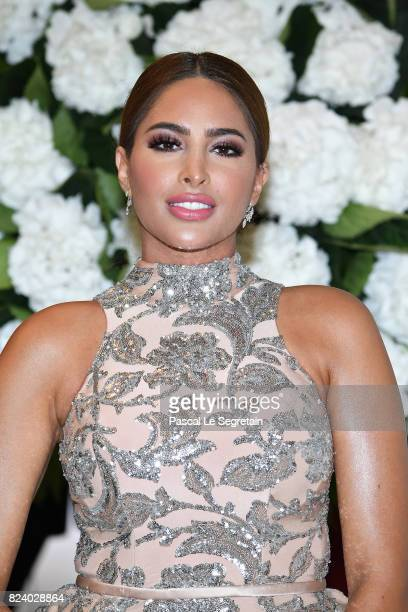 Instagrammer Fouz attends the 69th Monaco Red Cross Ball Gala at Sporting MonteCarlo on July 28 2017 in MonteCarlo Monaco