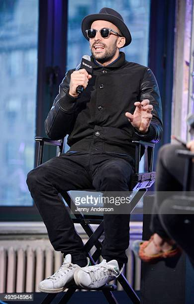Installation artist JR attends AOL Build series to discuss his short film Ellis at AOL Studios In New York on October 23 2015 in New York City