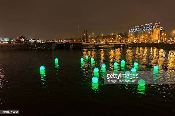 Installation at the Amsterdam lights festival