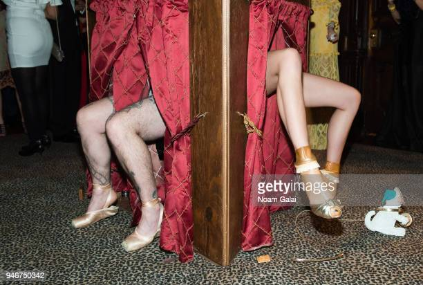 Installation curated by cochair Jenny Mushkin Goldman at the Dali Ball at The National Arts Club on April 13 2018 in New York City