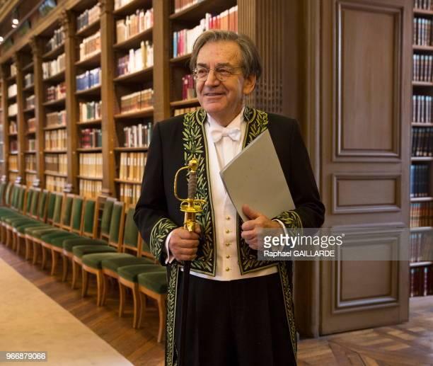 Installation de Alain Finkielkraut à l'Académie Française au fauteuil de Félicien Marceau le 28 janvier 2016 Paris France