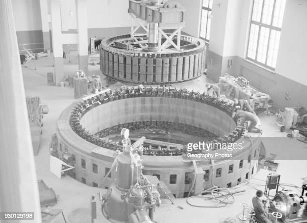 Installation of hydro electric generator Finland 1920s1940s