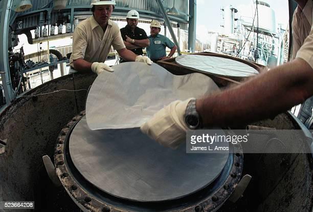 Installation of Platinum-Rhodium Gauze in Converter