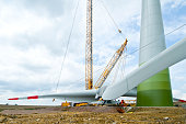 installation rotor blades wind turbine