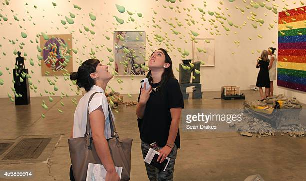 Installation titled Smail Rain by Urs Fischer during the Art Basel Miami Beach at Sadie Coles Gallery on December 03 2014 in Miami Beach United States