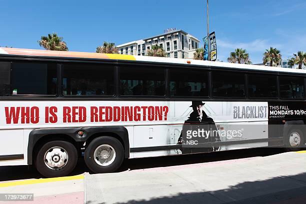 DIEGO 'NBC Installations at ComicCon 2013' Pictured NBC's Blacklist Bus Wrap