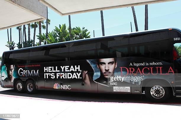 DIEGO 'NBC Installations at ComicCon 2013' Pictured NBC's Grimm Blacklist Bus Wrap