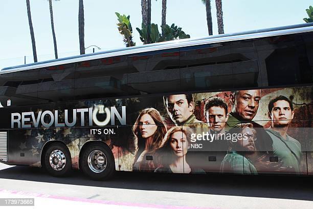 DIEGO 'NBC Installations at ComicCon 2013' Pictured NBC's Revolution Bus Wrap