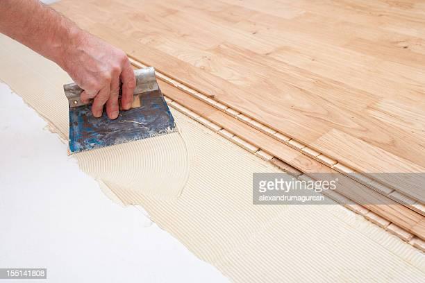 Instalación de piso de madera