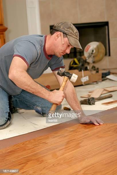 Installing wood floor 6.