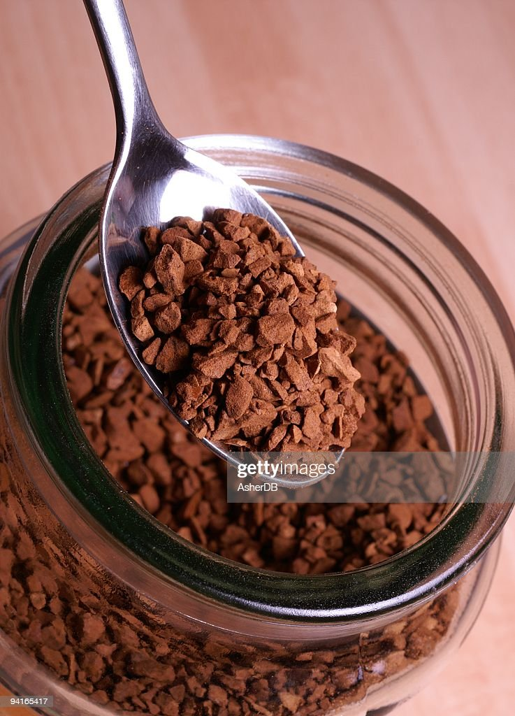 Instant Coffee and Spoon : Stock Photo