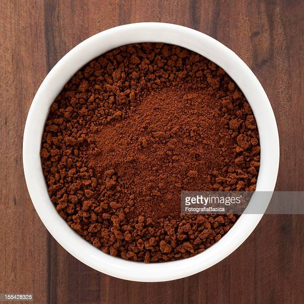 instant coffee - ground coffee stock photos and pictures