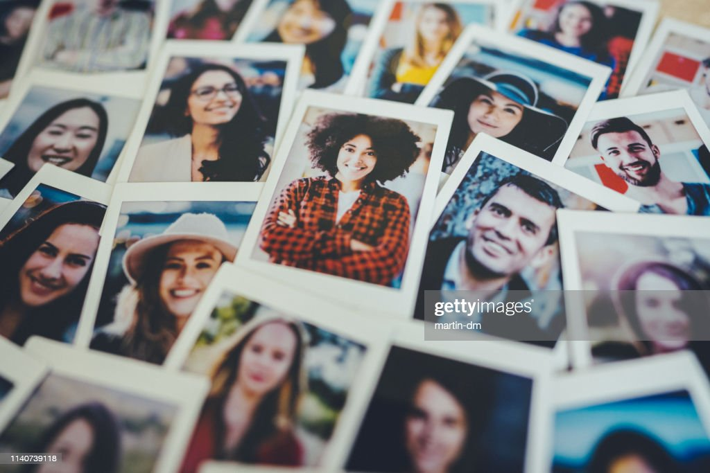 Instant portretten : Stockfoto