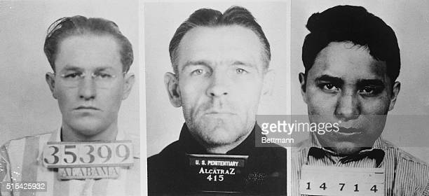 Instigators of the prison break and resulting riots at Alcatraz prison From left to right Marvin Hubbard Bernard Paul Coythe ringleader and Clarence...