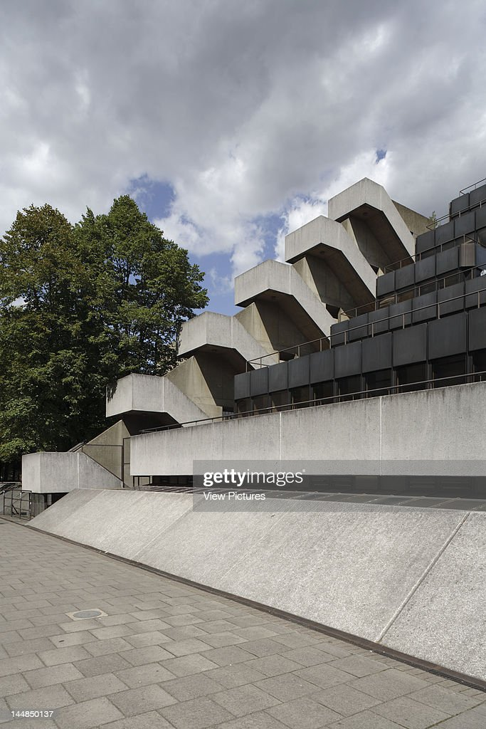 Institute Of Education University Of London, Bedfordway, London, Wc1, United Kingdom, Architect: Denys Lasdun, 1977, External Staircase With Stepped Terracing, Institute Of Education