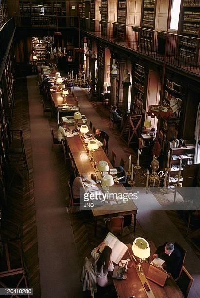 Institute of France in Paris France The library founded in 1797 15 millions books encyclopedic library and research