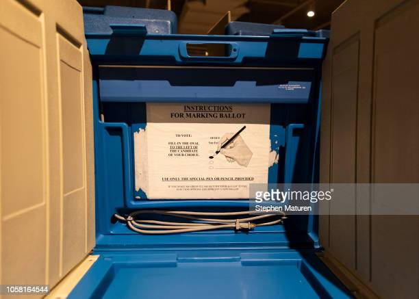 Instructions directs voters at the Minneapolis College of Art and Design on November 6 2018 in Minneapolis United States Voters in Minnesota will be...