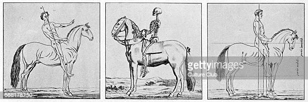 Instructions on the posture on horseback and holding a horse 18th century
