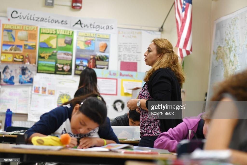 US-EDUCATION-LANGUAGE-LATAM-SCHOOL : ニュース写真